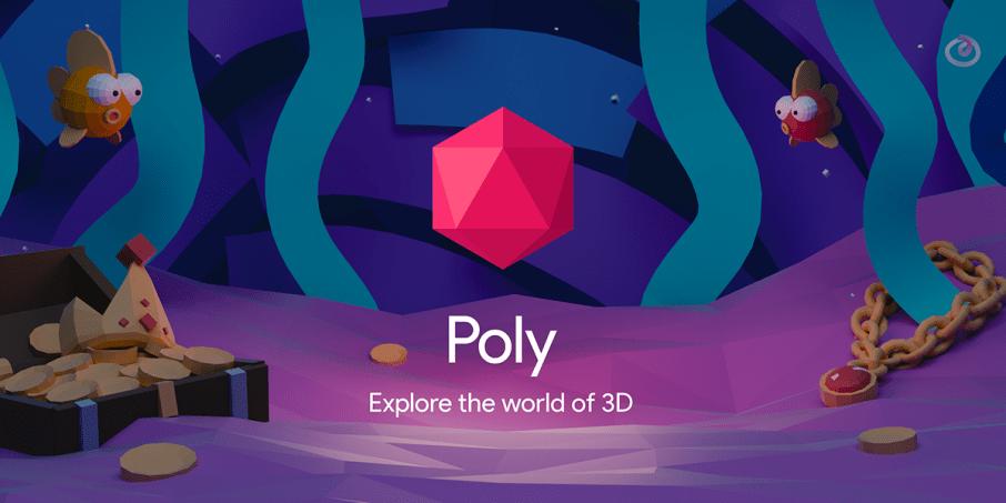 Google Poly 3D Werbung gestalten und bauen
