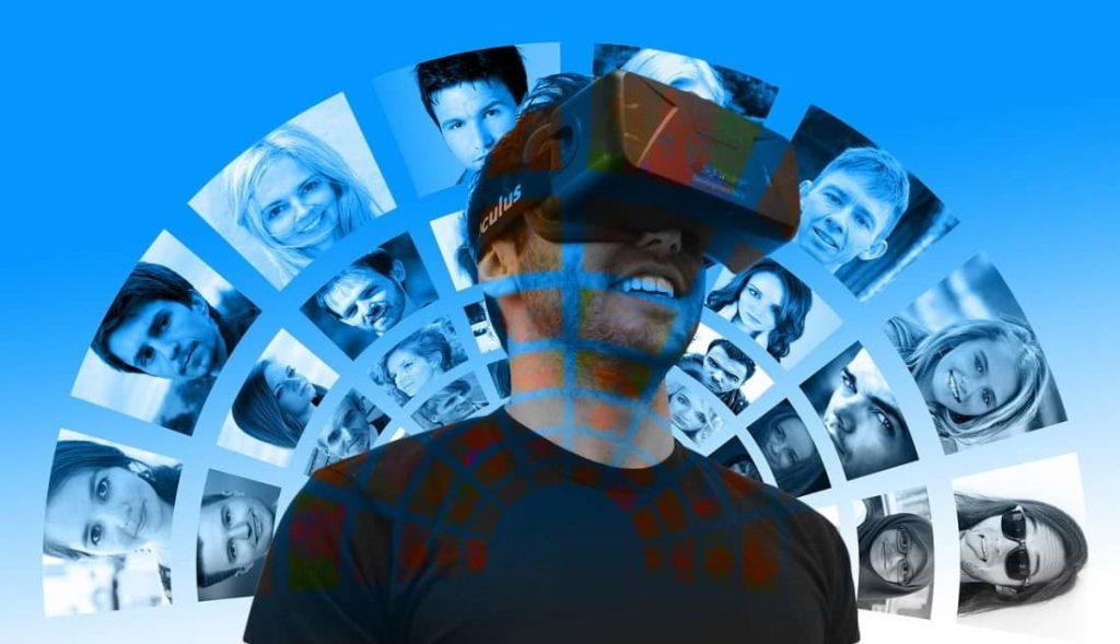 Virtuelle Gesichter, Mann mit VR Brille