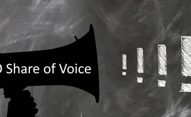 SEO Share of Voice: Berechnung der organischen Sichtbarkeit im Verhältnis zum Mitbewerb.